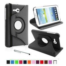 360 Rotating PU Leather Stand Case Cover untuk Samsung Galaxy Tab 3 Lite 7.0 Inch T110 dengan Stylus Pen- INTL