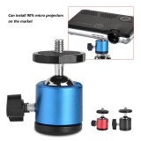 Beli 360 Swivel Ball Head 1 4 Scr*w Mount For Dslr Camera Tripod Ballhead Stand Tripod Heads Blue Intl Baru