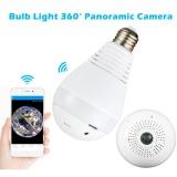 Review 360°Wide Angle Fisheye Wifi Ip Kamera Tersembunyi Bulb Lampu Led 1080 P Hd Indoor Spy Keamanan Kamera Untuk Android Ios App Remote View Spy Nanny Dukungan Kamera Max 64G Intl Tiongkok