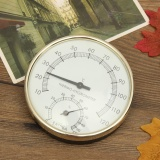 3 9 Stainless Steel Gold Edge Sauna Room Thermometer Hygrometer Temperature Intl Oem Diskon 40
