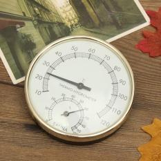 Ulasan Lengkap Tentang 3 9 Stainless Steel Gold Edge Sauna Room Thermometer Hygrometer Temperature Intl