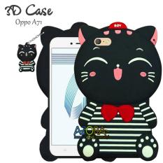 3D Case Oppo A71 Softcase 4D Karakter Boneka Hello Kitty Doraemon Lucu Character Cartoon