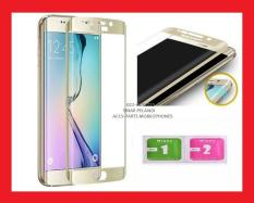 3D FULL COVER CURVED CURVE 2.5D ROUND EDGE TO EDGE LENGKUNG CEKUNG ANTI GORES TEMPERED TEMPER GLASS KACA SAMSUNG S6 G920 GOLD EMAS HIFI 906063