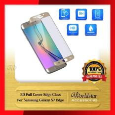 Jual 3D Full Cover Curved Tempered Glass Screen Protector For Samsung Galaxy S7 Edge G935F 9350 Gold Samsung Online