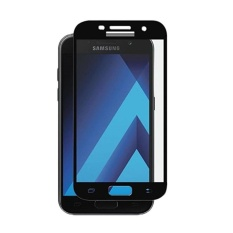 3D Full Cover Tempered Glass Warna Screen Protector for Samsung Galaxy A5 2017-Black
