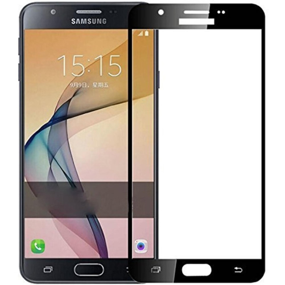 Vn Full Cover Samsung Galaxy J5 Prime / On5 (2016) / G570 / 4G LTE / Duos   Premium 9H Tempered Glass 4D Screen Protector Film 0.32mm - Hitam