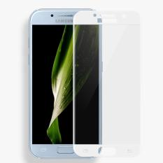 3D Full Cover Tempered Glass Warna Screen Protector for Samsung Galaxy S7 Flat - White
