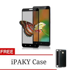3D Full Cover Tempered Glass Warna Screen Protector for Xiaomi Redmi 3 Pro / 3s / 3x - Black + Gratis iPaky