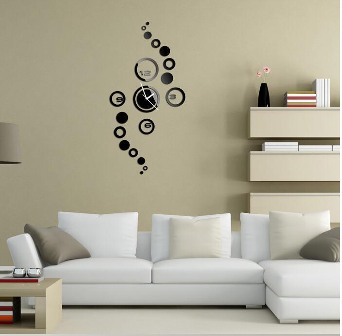 Beli 3D Modern Desain Kreatif Jam Dinding Sederhana And Stylish Living Room Silent Wall Clock For Stiker Ruang Tamu Produk Rumah Tangga Hitam Seken