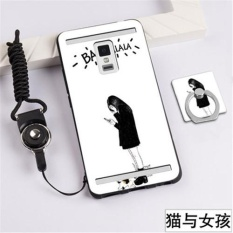 3D Relief Silica Gel Soft Phone Case for Vivo XPlay3S with a Ring and a Rope (Multicolor) - intl