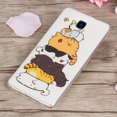 3D Relief TPU Soft Phone Case untuk Huawei Honor 5C (Multicolor)-Intl