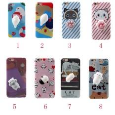 3D Squishy Sarung Lucu Kartun Kucing Telepon Case untuk iPhone 6 6 S Plus-Internasional