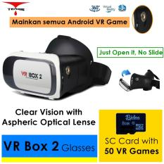 Beli 3D Vr Box 2 V02 With Magnetic Button 8G Game Google Cardboard Virtual Reality Glasses Vr Box 2 V02 Cicilan
