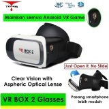 Jual 3D Vr Box 2 With Magnetic Button Google Cardboard Virtual Reality Glasses Vrbox2 Vr Box Asli