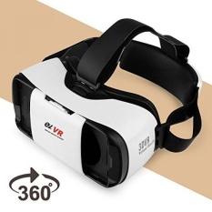 3D VR Headset, EV Virtual Reality Kacamata untuk 3D Movie Game, Kompatibel dengan IPhone & Android, Apple, Samsung, HTC, LG, untuk 4.7-5.7 Inch Smartphone-Intl