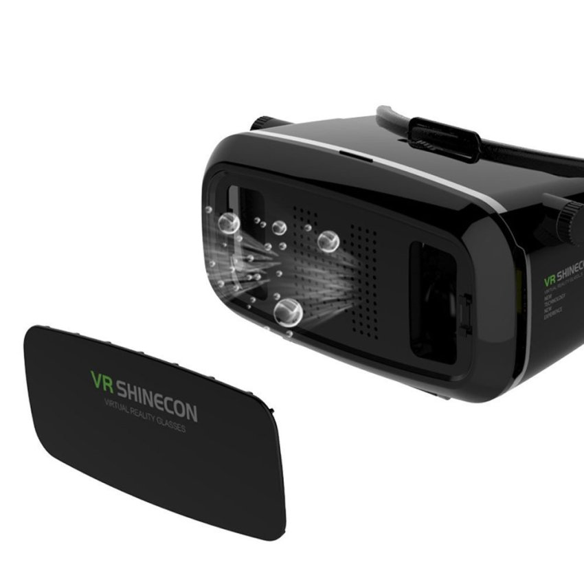 3D VR Virtual Reality Glasses 3D Film dan Permainan Video Kacamata Headset  dengan Tali Yang Dapat 9719cf98f6