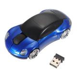 Jual 3D Optik Nirkabel 2 4G Mobil Berbentuk Tikus 1600Dpi Usb Untuk Pc Laptop Biru Murah