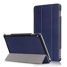 3 Folio Smart Stand Leather Flip Cover Case untuk Huawei MediaPad M3 Lite 10 10.1 Inch-Intl