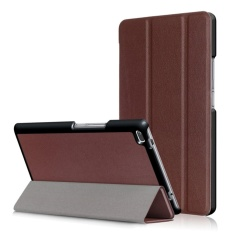 3 Folio Smart Stand Leather Flip Cover Case untuk Lenovo Tab 4 8 TB-8504F/N 8 Inch-Intl