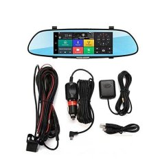 Review Pada 3G Mobil Dvr Quad Core Android 5 Dashcam Mobil Kamera 7 Bluetooth Gps Navi Cermin Mobil Recorder 32G Kartu Intl