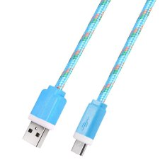 Toko 3M Micro Usb Charger Cable Cord Adapter Blue Wt Intl Indonesia