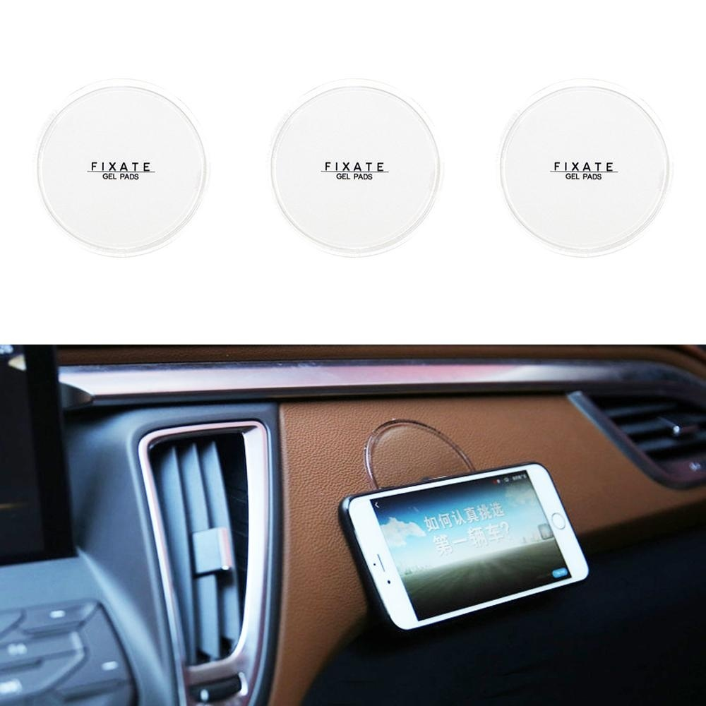 Review Toko 3Pcs Transparent Fixate Gel Pads Strong Stick Glue Anywhere Wall Sticker Reuseable Hot Sell Portable Home Fixed Wall Stickers Can Be Used As Car Mobile Phone Bracket Intl Online