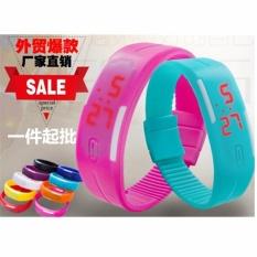 3 * PcsFactory Langsung Penjualan Baru LED Smart Sentuh Elektronik Gelang Olahraga Watch 15 Warna Spot Pabrik Grosir -Intl