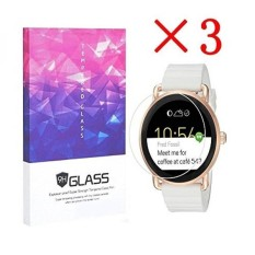 3X Fossil Q Wander Smartwatch Screen Protector Crystal Clear 9H 2.5D Tempered Glass Screen Protector Foils,Anti-Fingerprint,Anti-Glare,bubble-free Protection Film (3 Packs) - intl