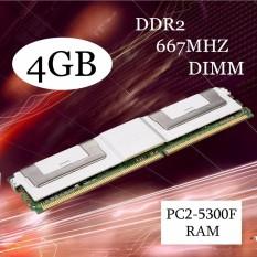 4 GB DDR2 PC2-5300F 667 MHz DIMM 240PIN CL5 Server ECC RAM Memori untuk Desktop Putih-Intl