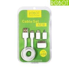 [4 in 1] Vivan Robot Cable Set Pro / Kabel Data / Kabel Charger