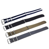 Spesifikasi 4 Pcs 4 Warna Berwarna Woven Nilon Kain Penggantian Wrist Watch Band Tali Gelang Sabuk 16 Lbs Dengan Stainless Steel Buckle Gesper 22Mm Lebar Merk Vococal