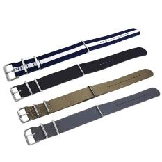 Spesifikasi 4 Pcs 4 Warna Fashion Berwarna Woven Nilon Kain Penggantian Tali Jam Tangan Gelang Sabuk Dengan Buckle Stainless Steel Gesper 22Mm Lebar Intl Merk Thinch