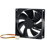 4 Pin Komputer Cpu Cooler 3800 Rpm Kipas Pendingin Hitam Pc 90X90X25Mm Dc 12 V Intl Original