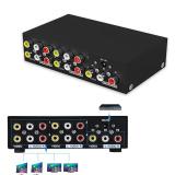 Jual 4 Port Komposit Rca Av Splitter Video Audio Distributor Dengan Power Supply Untuk Stb Dvd Tv Dll Antik