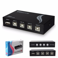 Review Tentang 4 Port Usb 2 Berbagi Switch Switcher Kotak Adaptor For Pc Scanner Printer