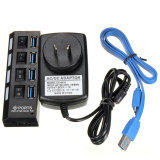 Spesifikasi 4 Port Usb 3 Hub With Saklar Off On Kabel Adaptor Daya Ac Au Internasional Murah