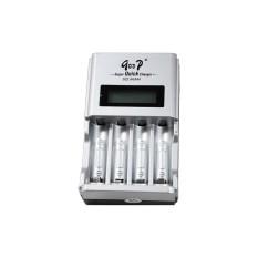 4 Slot Kontrol IC LCD Pintar Super Cepat Pengisi Daya untuk Baterai Isi Ulang-Internasional