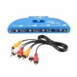 4 Way Audio Video Av Rca Composite Switch Selector Box Splitter Dengan Av Kabel Intl Diskon Akhir Tahun