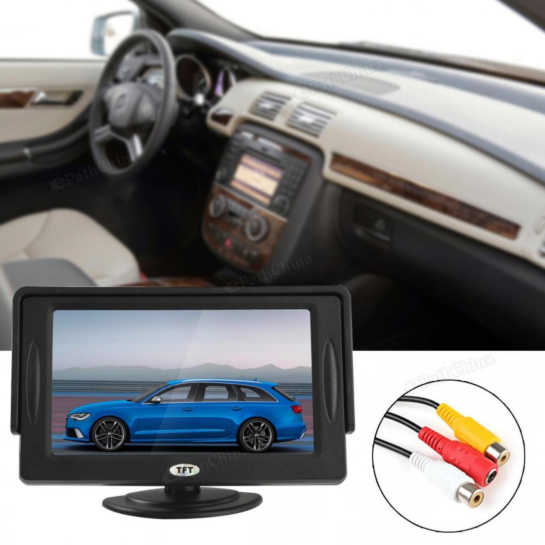 4.3 Inch 480x272 2-Channel Input Car Rear View Monitor Ukuran Pocket Warna TFT LCD Display