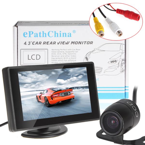 Spesifikasi 4 3 Inch Warna Tft Monitor Mobil Dukungan Resolusi 480X272 Dengan Kamera Mobil Merk Oem