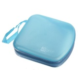 Promo 40 Disc Cd Dvd Vcd Storage Holder Case Hard Box Dompet Carry Bag Zipper Blue Intl