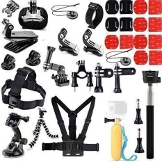 40 In 1 Aksesoris Kit Gopro5 Hero 5 3 + 3 2 1 GO PRO Black Silver SJCAM XIAO YI Head Strap-Intl