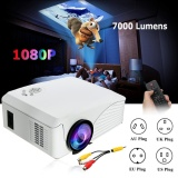Jual 4000 Lumens 1080 P Hd Portable Proyektor 3D Led Multimedia Usb Theater Cinema Uk Plug Intl Antik