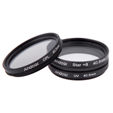 Toko 40 5Mm Filter Set Uv Cpl Star 8 Point Filter Kit With Case For Canon Nikon Sony Dslr Camera Lens Black Di Tiongkok