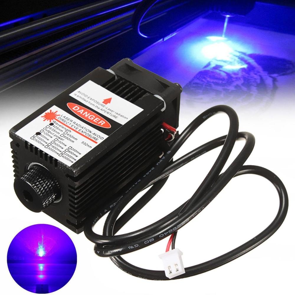 405nm 300 MW DIY Modul Laser untuk Kayu Logam Cutting Engraving Mesin Engraver-Internasional