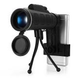 Harga Teleskop Monocular Mini 40X60 Hd Night Vision Dengan Tripod Hitam Di Tiongkok