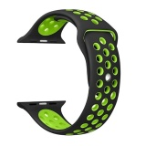 Jual 42Mm 1 1 Size Strap Silicon Sports Watch Band Strap For Apple Watch Black And Green Murah Tiongkok