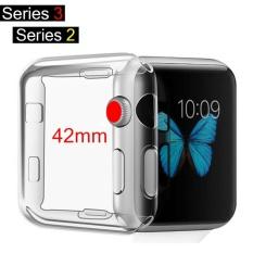 【42mm】SLGOL Series 2/3 untuk Apple IWatch, Aku Watch Case Soft TPU Screen Protector All-around Pelindung Ultra Tipis Case Cover untuk Apple Watch Series 2/3-Intl