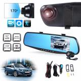 Harga 4 3 Dual Lens Car 12Mp 1080P Hd Dash Camera Dvr Cam Night Vision Recorder Yang Murah