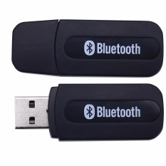 4Connect USB Bluetooth 3.5mm Stereo Audio Music Receiver Adapter For Speaker Black
